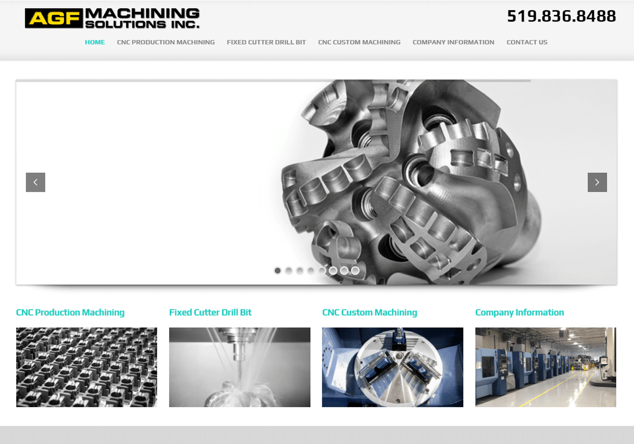 Lunarstorm's AGF Machining website design services