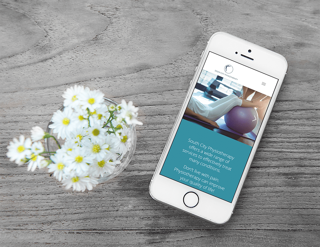 South City Physiotherapy mobile web design iphone