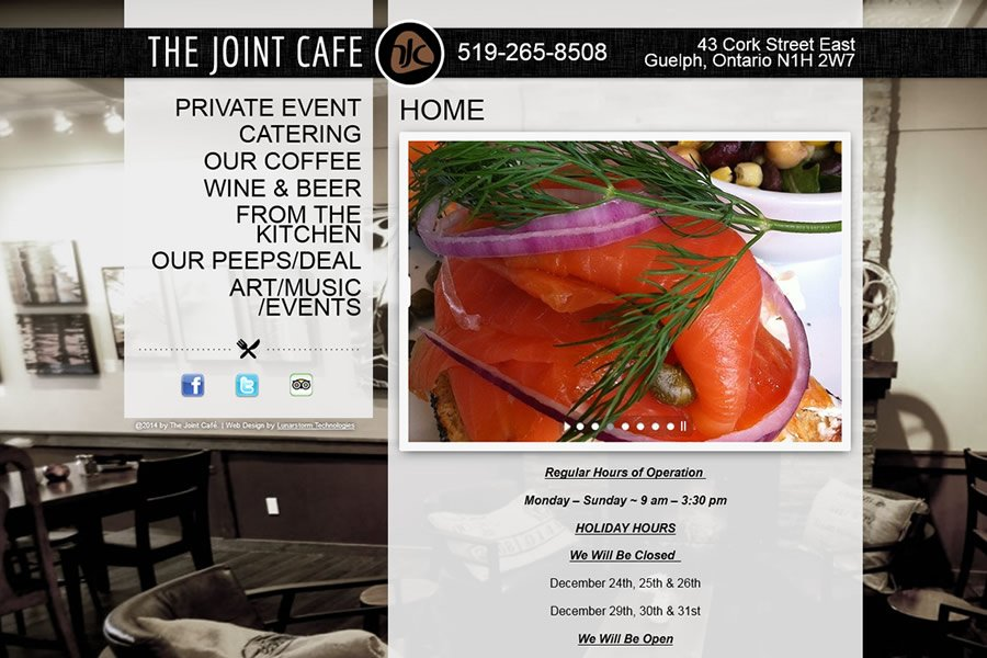 The joint cafe website design