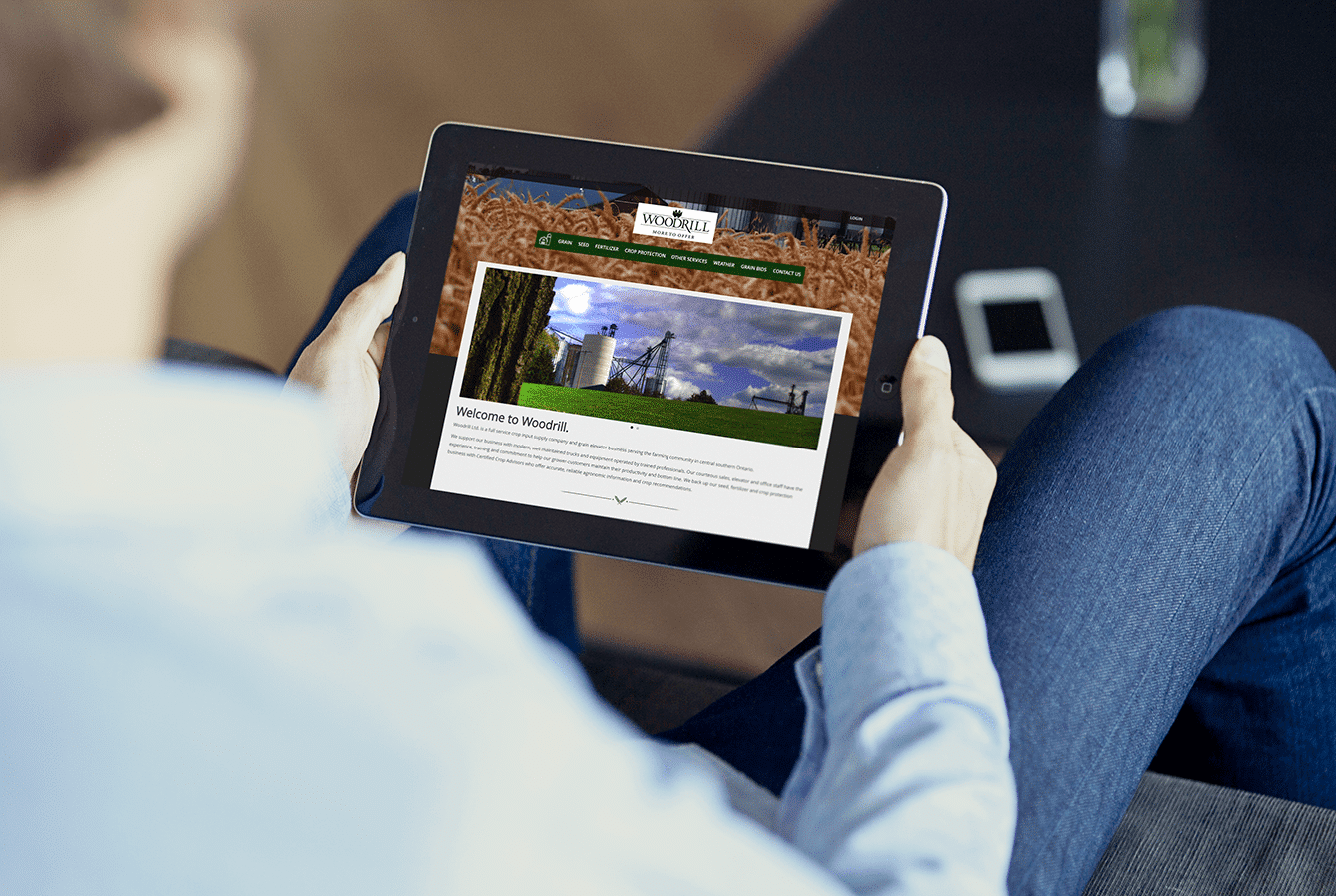 Woodrill farms custom website design services Guelph from Lunarstorm