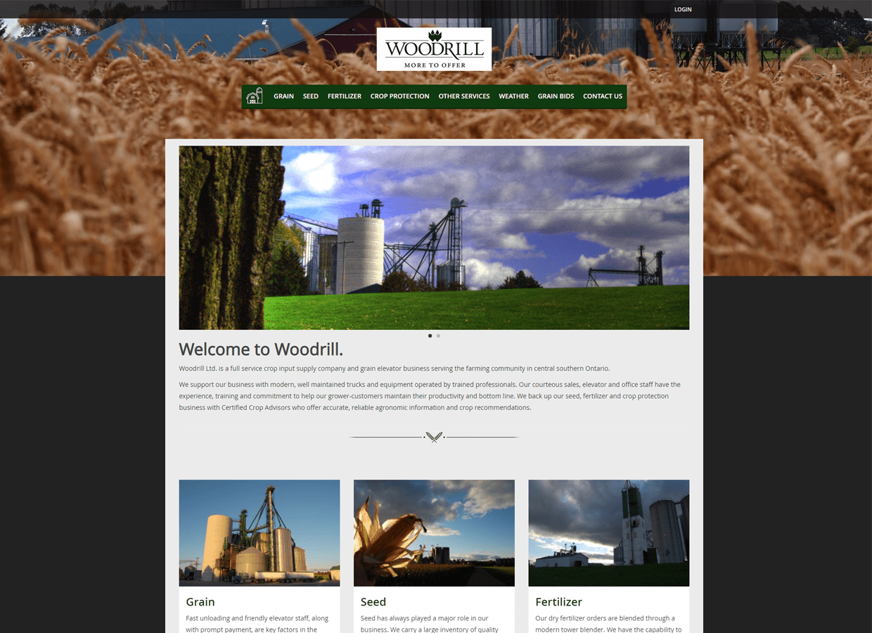 Woodrill farms custom website design services Guelph