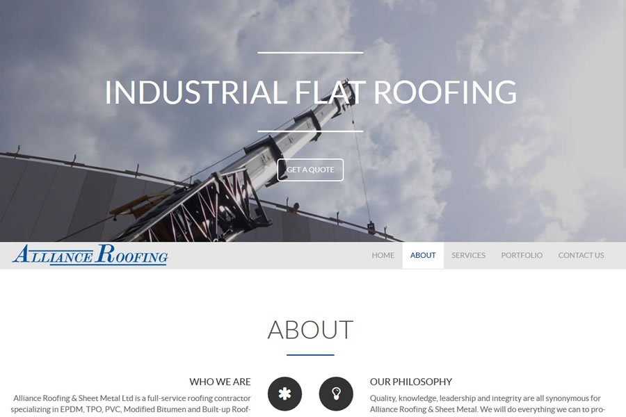 alliance roofing sheet metal web design guelph